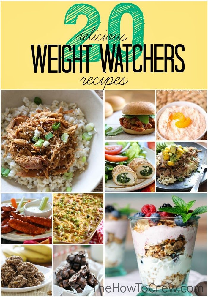 20 delicious weight watchers recipes!