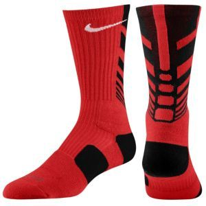 Nike Elite Sequalizer Crew Sock - Mens - University Red/Black/White