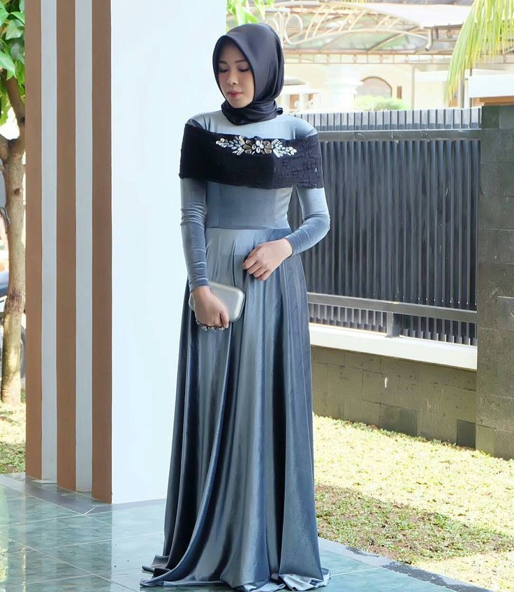 Hijab Wedding Attendee Dress Made Out Of Velvet and Brocade