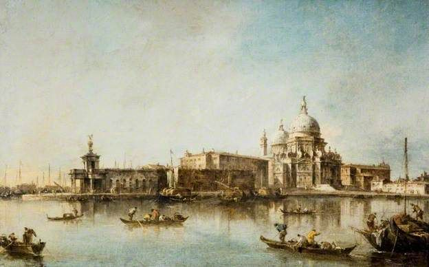 Venice, Santa Maria delle Salute and the Dogana - Francesco Guardi