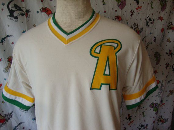 Vintage 80 S Angels A Halo Minor League Baseball V Neck Ringer Shirt Jersey Sz M Minor League Baseball Vintage Jerseys Jersey