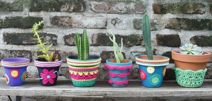17 best images about macetas deco crochet on pinterest. Black Bedroom Furniture Sets. Home Design Ideas