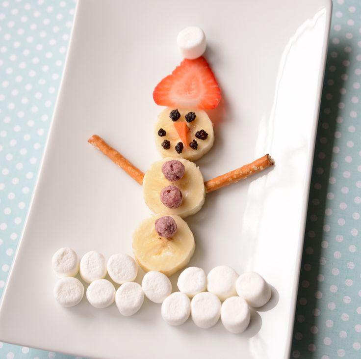 A Fruity Snowman Snack