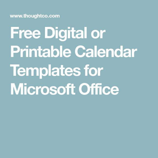 The 25+ best Calendar templates ideas on Pinterest Free - office calendar templates