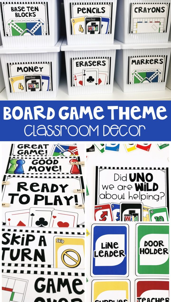 This classroom theme is so much fun! Decorate your classroom in a board game theme! The kit is editable and includes tons of labels to help organize your classroom!