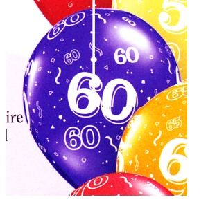 60th Latex Balloons