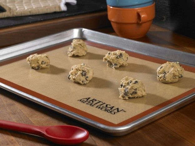 Use silicone baking mats to prevent those stuck-on messes. | 33 Genius Baking Tips Every Beginner Needs To Know