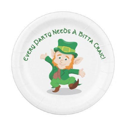 'Life Of The Party' Irish Paper Party Plates - kitchen gifts diy ideas decor special unique individual customized