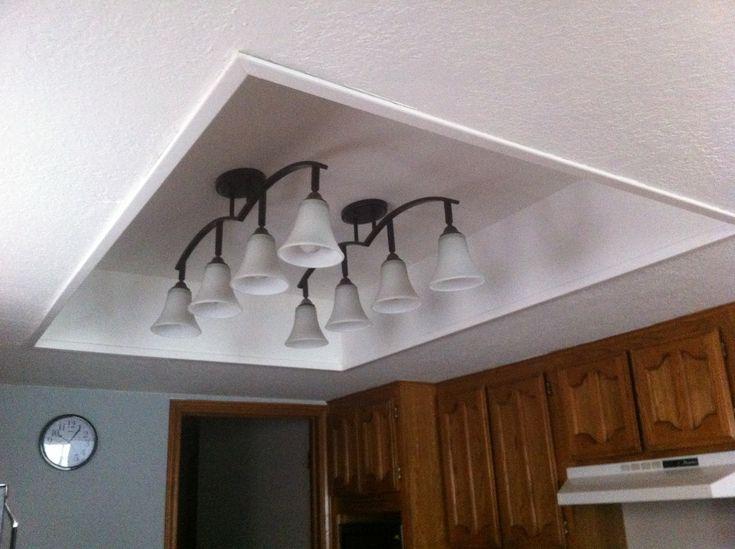 Fluorescent Bathroom Light Fixture: Remove Old Framed Light Panel With Fluorescent Lights