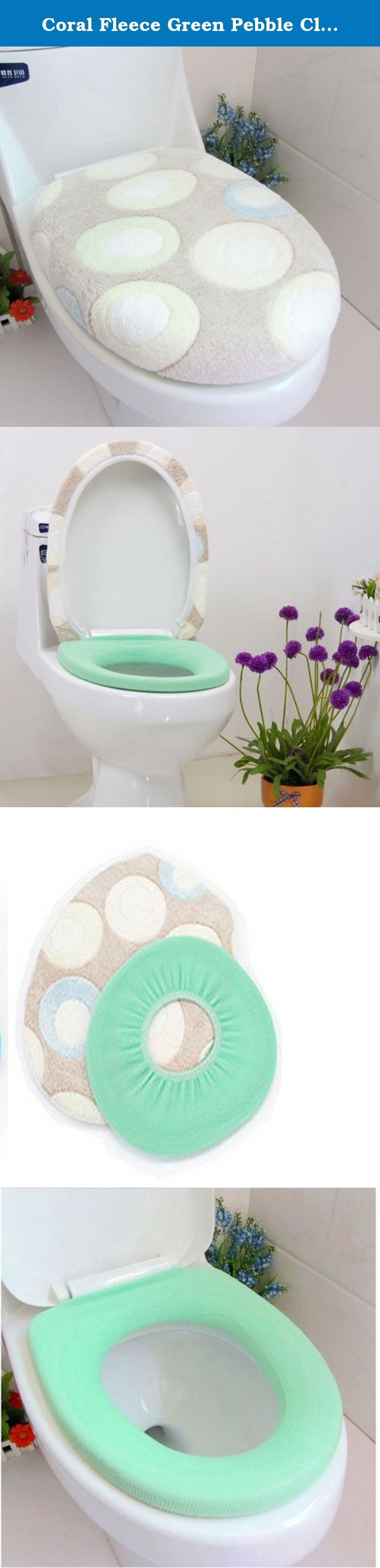 Coral Fleece Green Pebble Closestool Mat Toilet Seats Twinset // Paño grueso y suave de coral de cantos rodados del closestool verde asientos de. Esta tapa del inodoro es muy suave y comfortable.good decoración en el baño aburrido. mantener el calor en días fríos, la atención médica y sanitaria con esta tapa del inodoro. Description:Material: Coral FleeceWeight: 200gSize: 50*50cmColor: As shown in the picturesQuantity: 2pcs/setPackage Include:1 x Set closestool matNote:Products and images...