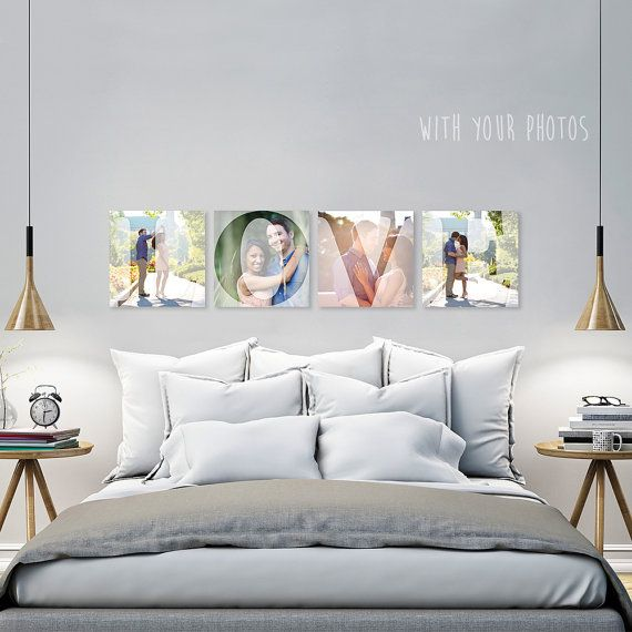 Acrylic Letter Wall Tiles (with your photos and choice of letters!) Wedding Gift, Anniversary Gift, Mothers Day Gift