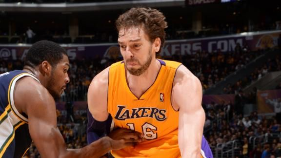 Lakers' Gasol has strained tendon in big toe