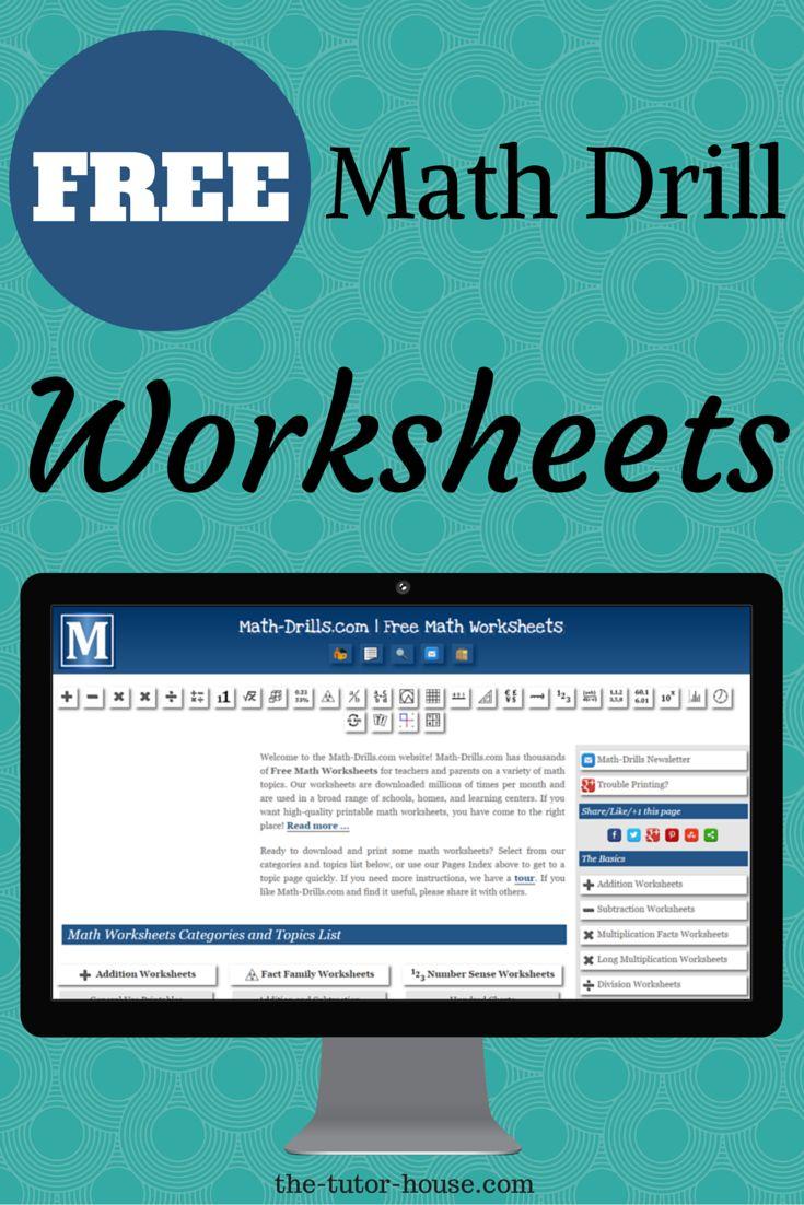 Free Online Math Resources — Math Fact Drills, Worksheet Generators ...