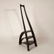 Library Steps Mark IV  Made in 3,000 year old bog oak by James Ryan and Andy Cunningham  Edward Barnsley Workshop