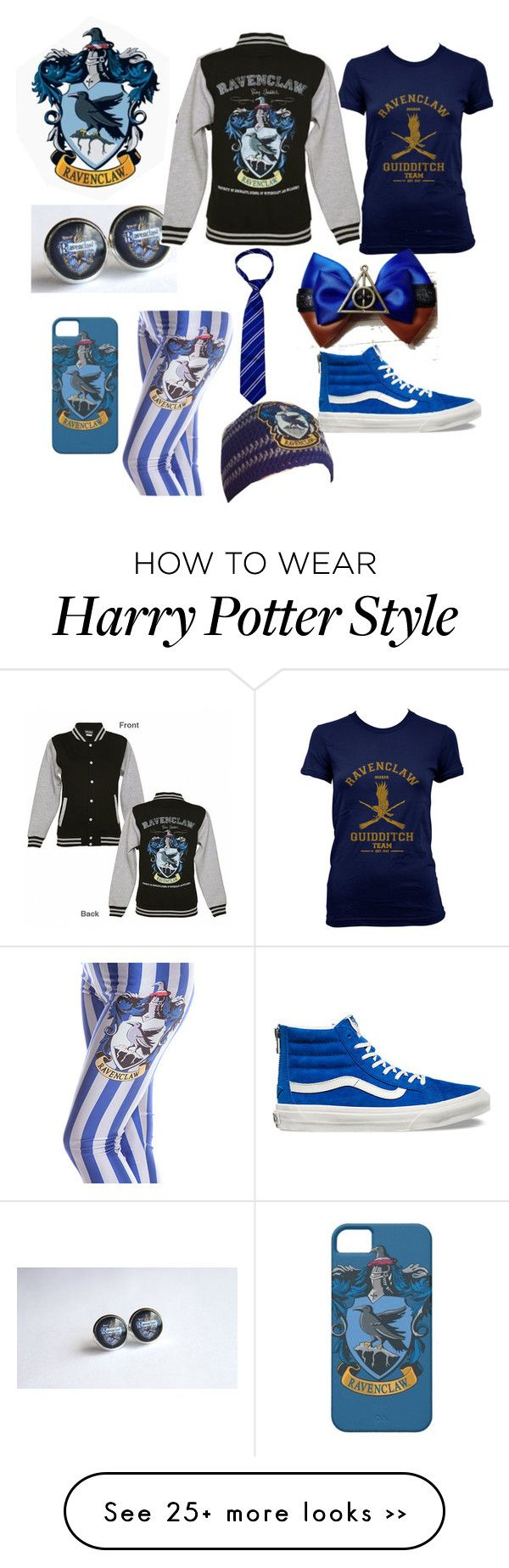 """Ravenclaw Outfit"" by batman-101 on Polyvore featuring Vans"