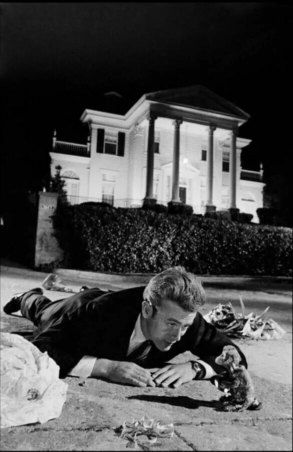 "James Dean in the opening scene of ""Rebel Without a Cause"", (1955)."