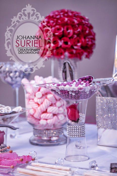 candy buffet baby shower shower ideas pearl diamond candies diapers