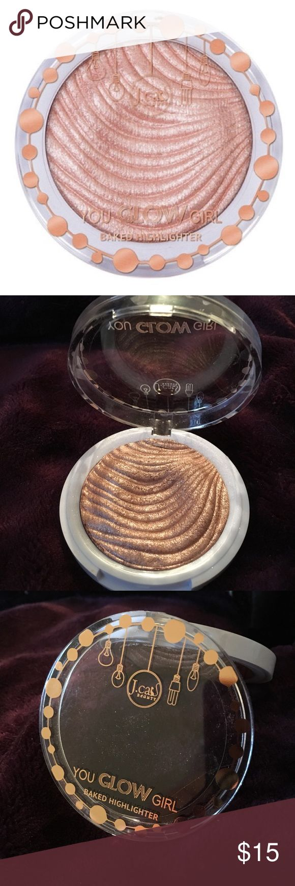 🌸You Glow Girl Baked Highlighter🌸 **Color: Pink Goddess**  Details- J.Cat Beauty's multi-dimensional baked formula in the You Glow Girl Baked Highlighter brings instant glow all day long due to high intense shimmer pigment. It is designed to complement all skin tones and all skin types. The smooth texture blends effortlessly and gives the perfect luminous finish that complete your look. [Free of phthalates, SLS, triclosan, propylene glycol and animal ingredients. Cruelty free.] J.CAT