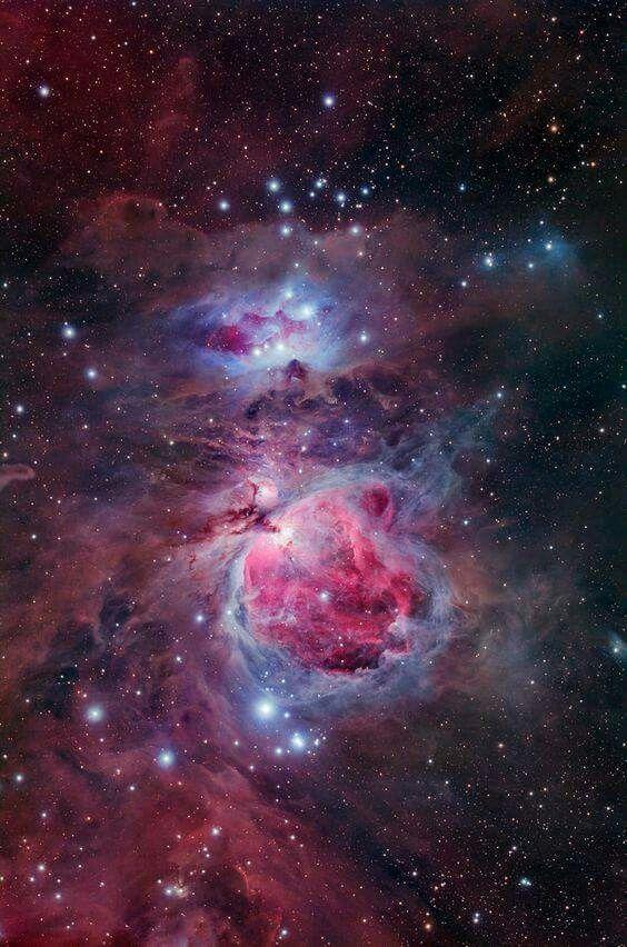 Nebulosa de Órion, que está localizada à 1344 anos-luz da Terra.
