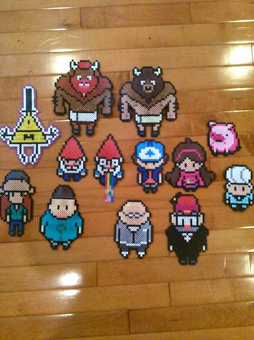 gravity falls perler bead patterns | the gang's all here