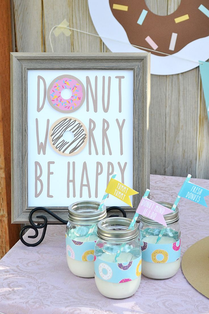 Aly Dosdall: diy donut decor | part 1: Free printable donut sign and donut flags.