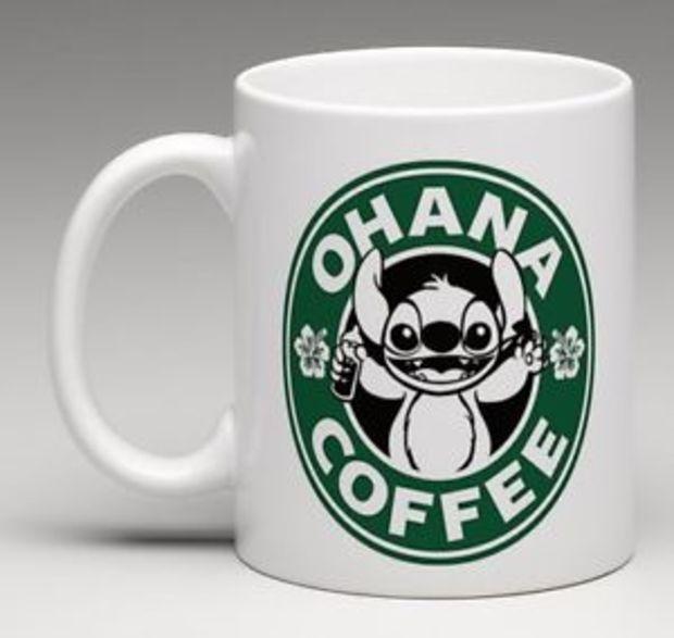 Starbucks Disney Inspired Lilo and Stitch Ohana Coffee Mug Tea Cup
