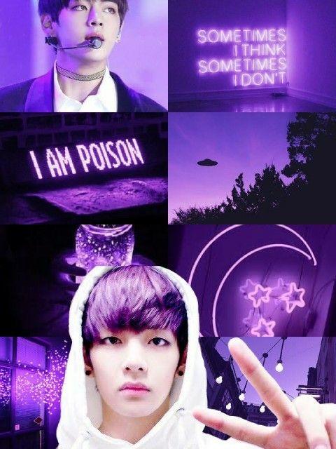 Taehyung V Aesthetic Purple Bts Wallpaper Cute Wallpapers Purple Taehyung