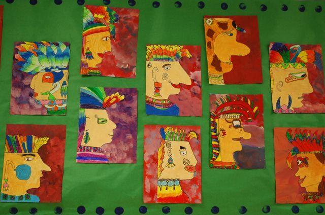 Aztec, Mayan Portraits by paintedpaper, via Flickr