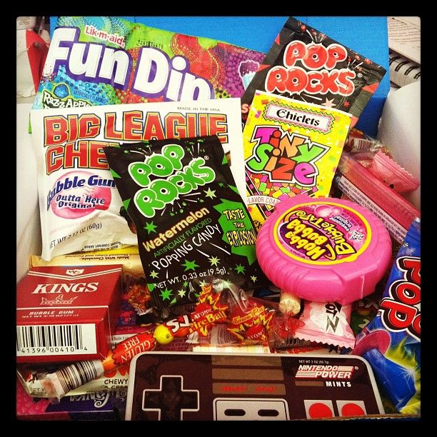 80s Candy! Bubble Tape, Nintendo, Pop Rocks, Fun Dip, & Big League Chew!