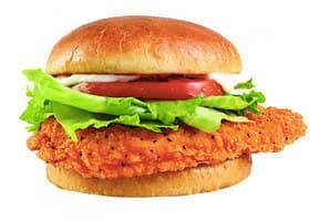 La hamburguesa Pollo Spicy de Wendy's.