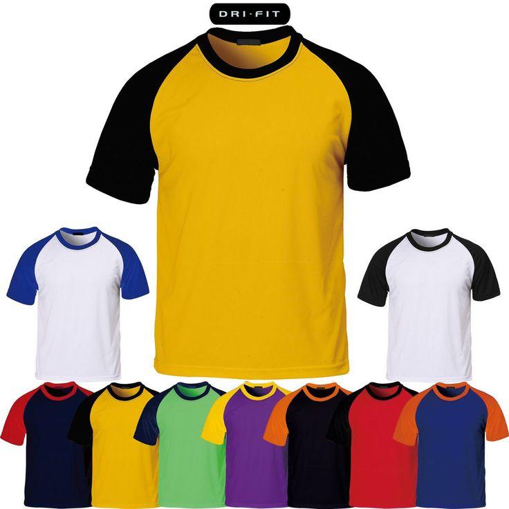 Mens Cool Drying Raglan T-Shirt Plain Baseball Jersey Crew Neck Short Sleeve Tee #hellobincom #RaglanTShirt