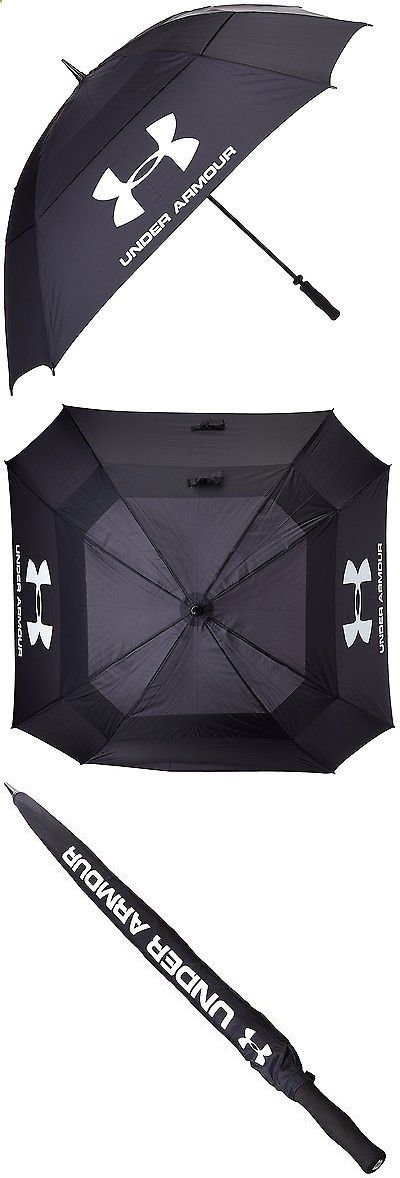 """Golf Umbrellas 18933: Under Armour Golf Umbrella €"""" Double Canopy, Black Black, One Size -> BUY IT NOW ONLY: $60.09 on eBay!"""