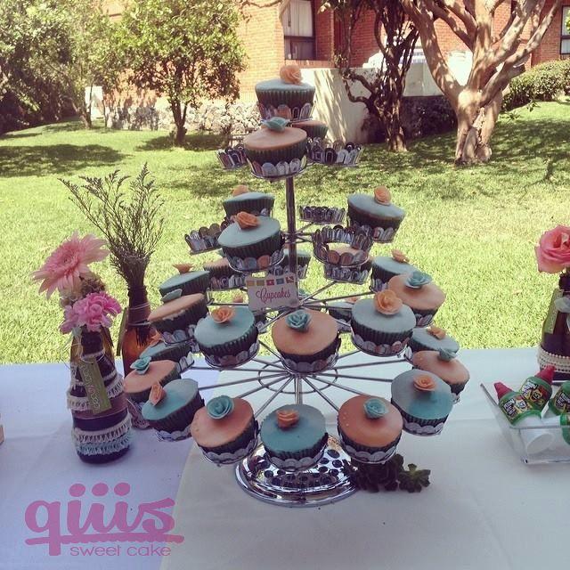 Torre de Cup Cakes, Estilo Vintage