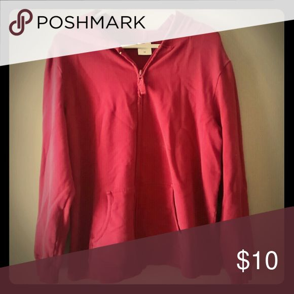 Motherhood maternity zip up hoodie Long sleeved, zip front, hood, double pockets. Cranberry color Motherhood Maternity Tops Sweatshirts & Hoodies