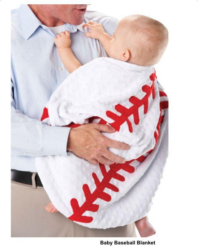 Baseball baby blanket! Love it!!