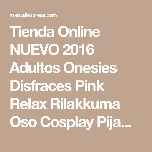 Tienda Online NUEVO 2016 Adultos Onesies Disfraces Pink Relax Rilakkuma Oso Cosplay Pijama Mono Animales Pijamas de Una Pieza del Traje de Halloween   Aliexpress móvil