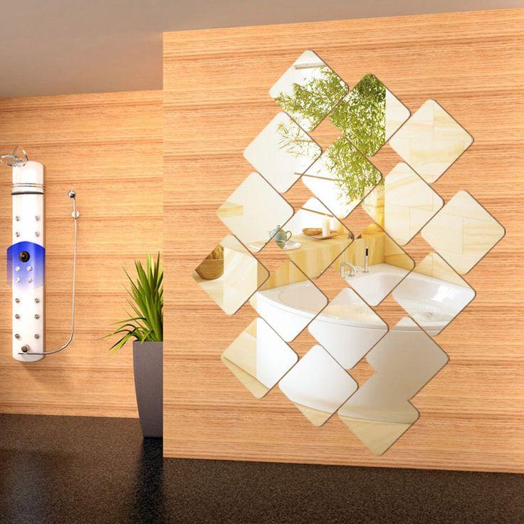 Specchio adesivo decorativo da parete n.08