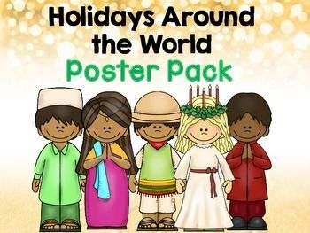 Great FREE poster pack of different holidays and cultural celebrations from around the world.  Adorable!
