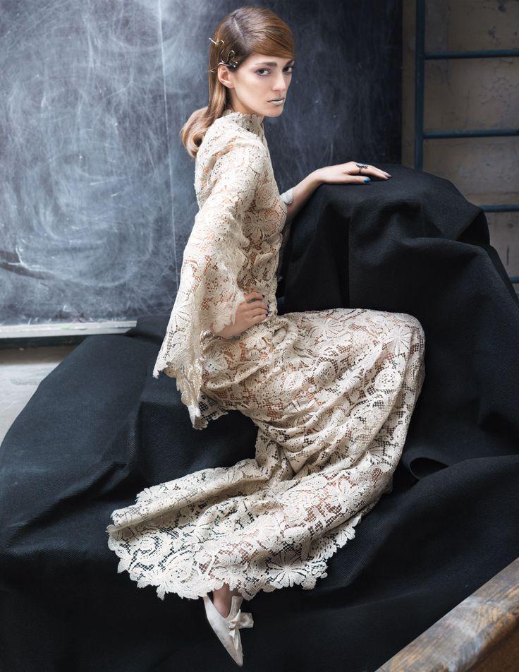 Interpretation of Dreams: Sofia Sanchez Barrenechea in Valentino Haute Couture Spring 2014 for Town & Country April 2014