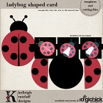 Ladybug Card Template Set and Cutting Files