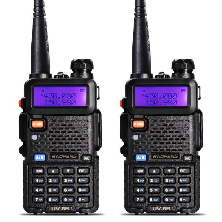 2Pcs BaoFeng UV-5R Walkie Talkie VHF/UHF 136-174Mhz&400-520Mhz Dual Band Two Way Radio Baofeng uv 5r Portable Walkie Talkie uv5r