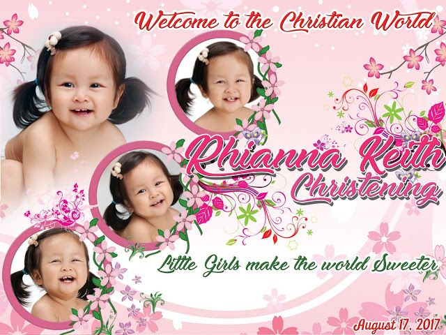 sample layout for pink and floral theme tarpaulin desig n