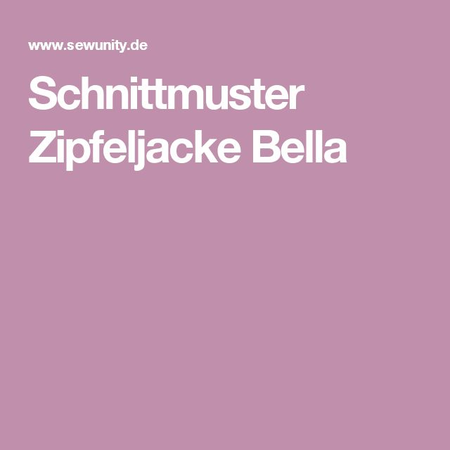Schnittmuster Zipfeljacke Bella