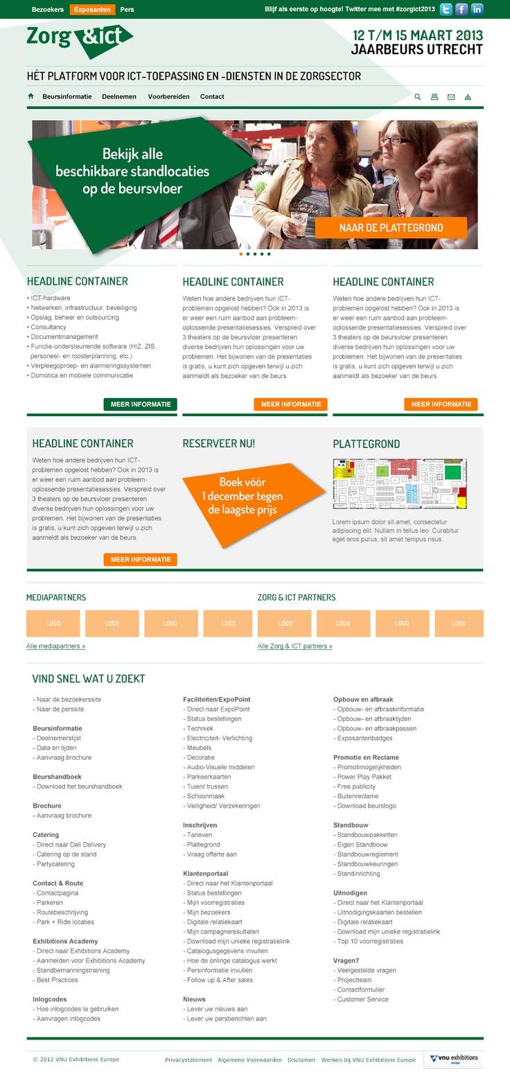 Beurswebsite van MetaalExpo voor VNU Exhibitions. (webdesign)