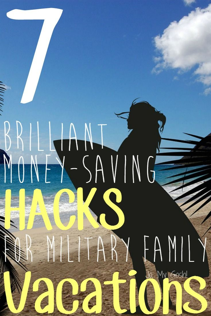 Great ideas for military families going on vacations, saving money, milfams! Saving for later