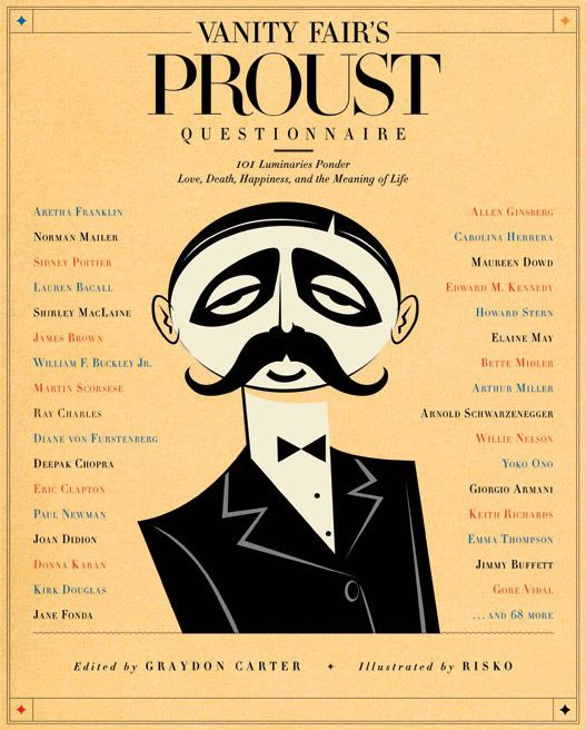 Proust Questionnaire- interesting questions to ask ppl (article links to famous ppl's answers)