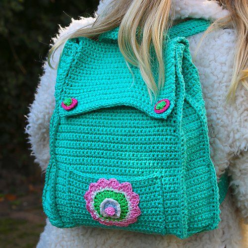 18 Crochet Backpack with Free Patterns
