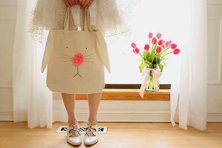 DIY Bunny Tote Bag, via Wear The Canvas