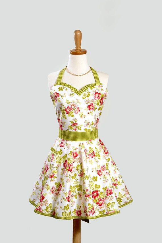 Aprons: Decor Ideas, Diy Fashion, Diy Gifts, Cute Aprons, Sewing Ideas, Hostess Aprons, Apples Blossoms, Sweetheart Neckline, Sewing Aprons