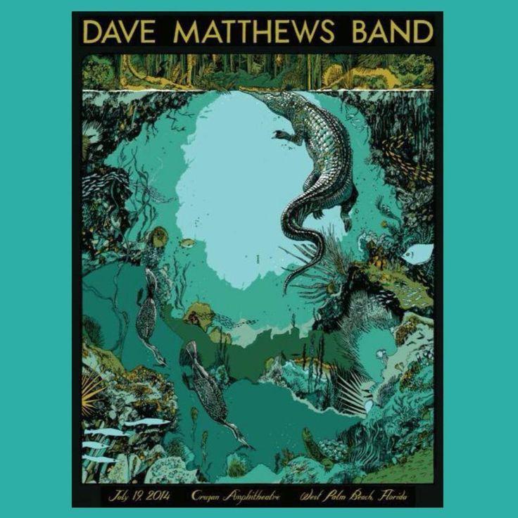 Dave Matthews Band Poster West Palm Beach